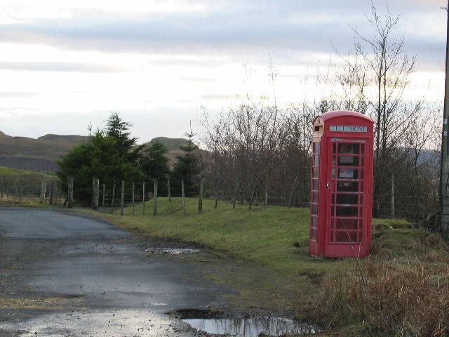 Red Phone Box at Romesdal