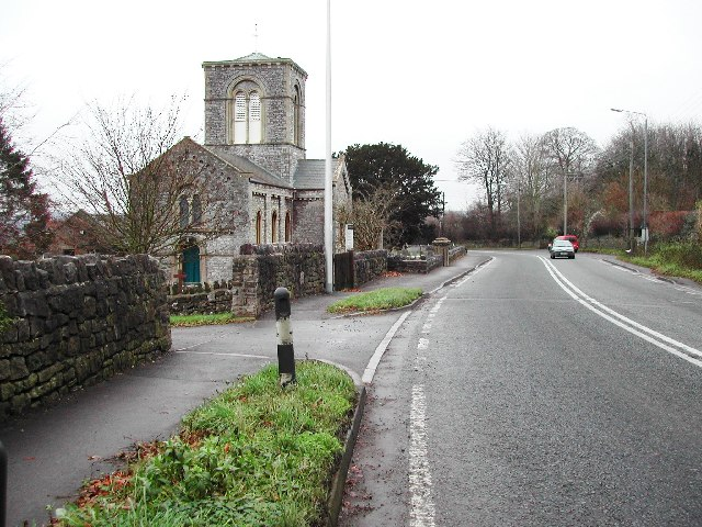 Cleeve Church on the A370
