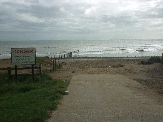 Road ahead subject to coastal erosion