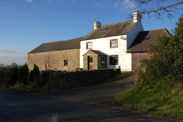 Farmhouse known as Halls on the OS map