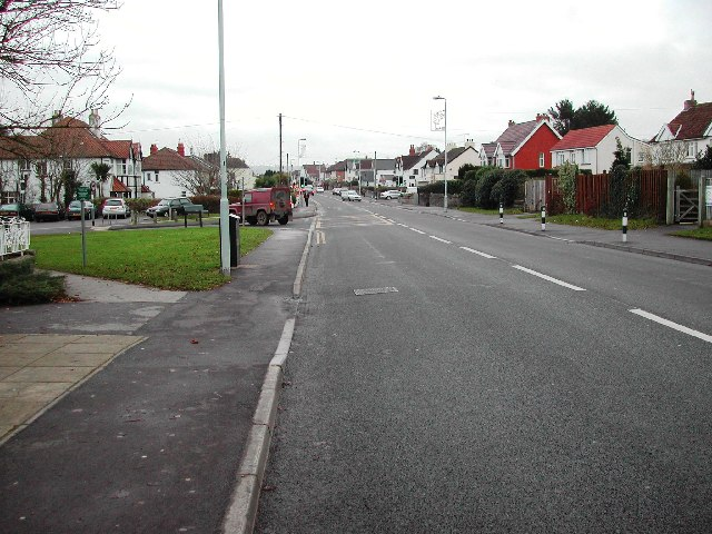 The A370 runs through Backwell