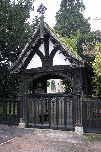 The Lychgate entrance to Badgeworth church