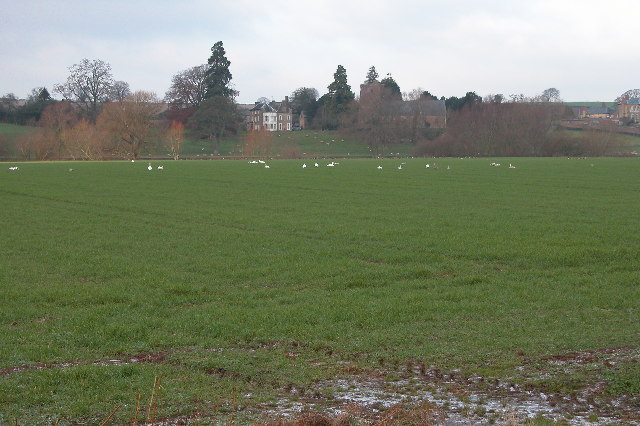 Foy church viewed from across the meadows