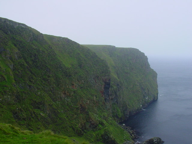 Cliffs at Yuxness, north of Fitful Head
