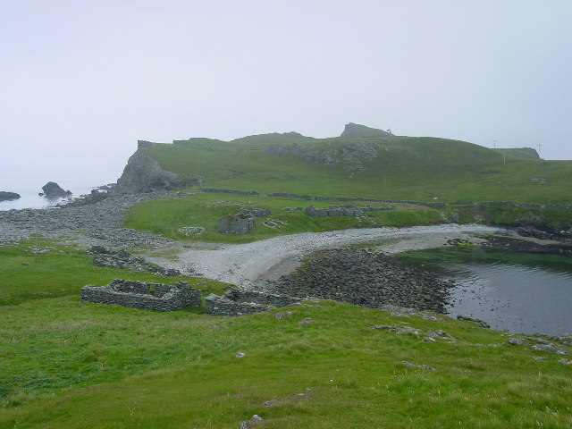 Deserted fishermen's village, Fethaland