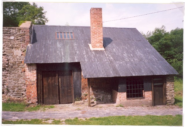 Restored building, Snailbeach Lead Mine, Worthen