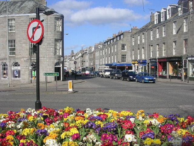 King Street from Aberdeen Arts Centre