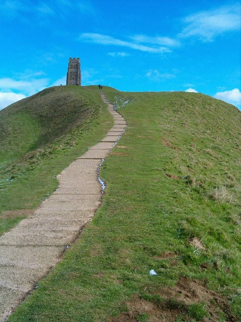 Glastonbury Tor - the path up from the west