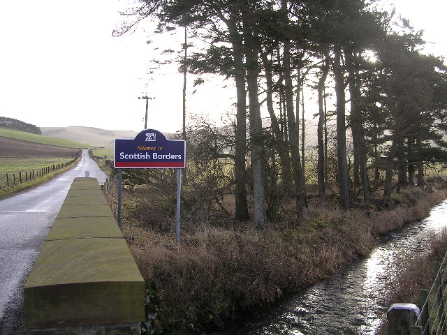 Road to Broughton, and Spittal Burn
