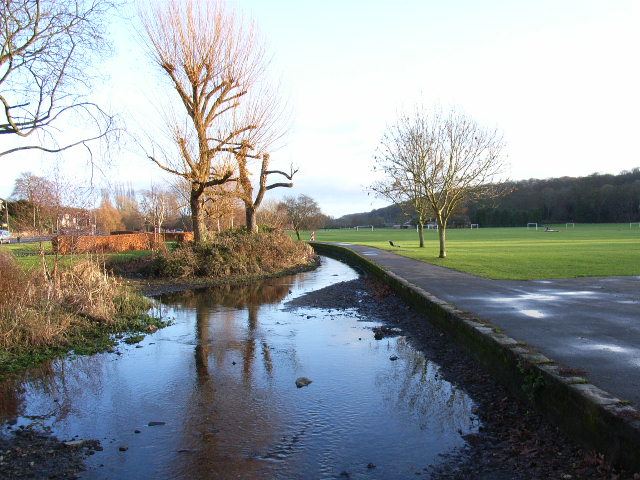 The River Wye and adjacent park, High Wycombe