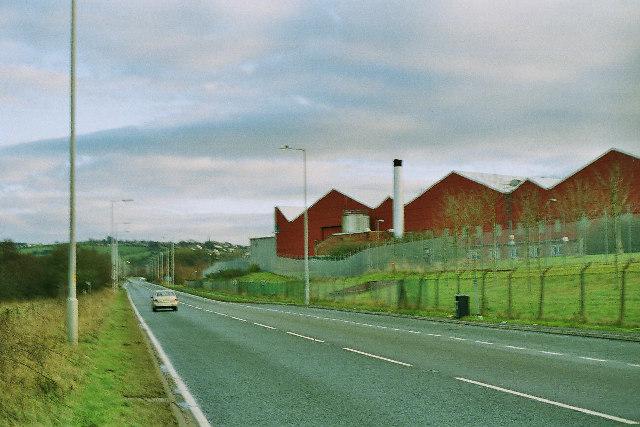A59 passing Samlesbury Airport