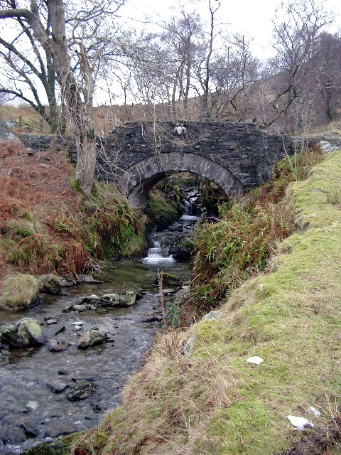 Bridge over the Glenstriddle Burn