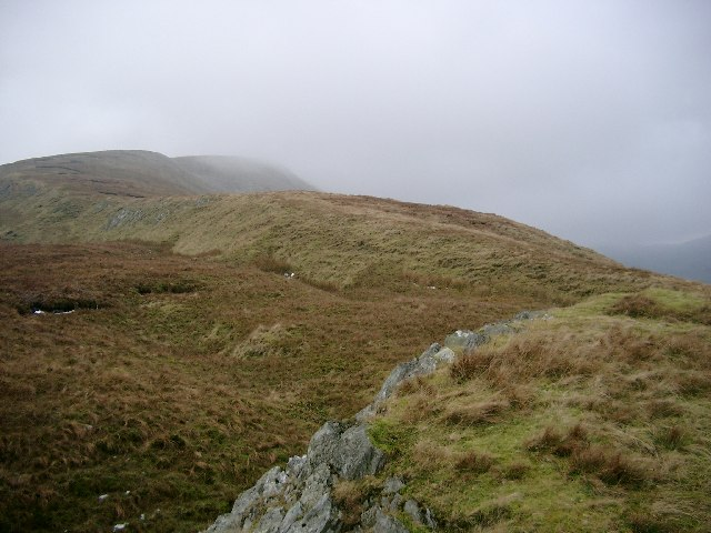 The east ridge of Beinn Eich, looking towards the summit.