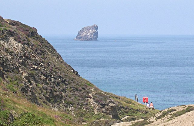 Bawden Rocks from Trevellas Coombe