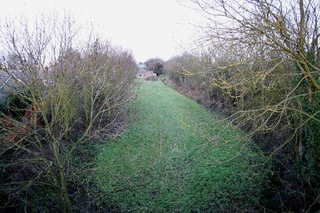 Disused railway at Leadenham