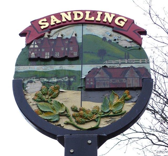 Sandling village sign