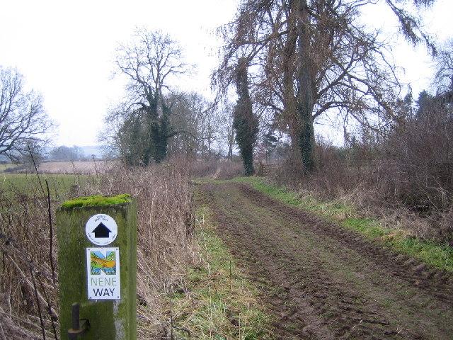 Nene Way footpath near Little Everdon