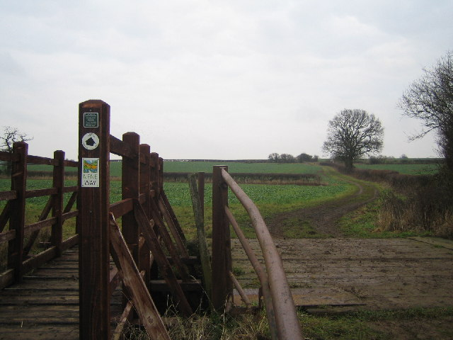 Footbridge on the Nene Way
