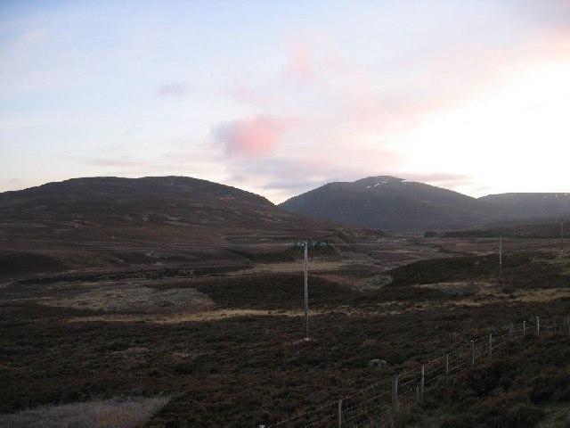 Heading east to Meall Chuaich