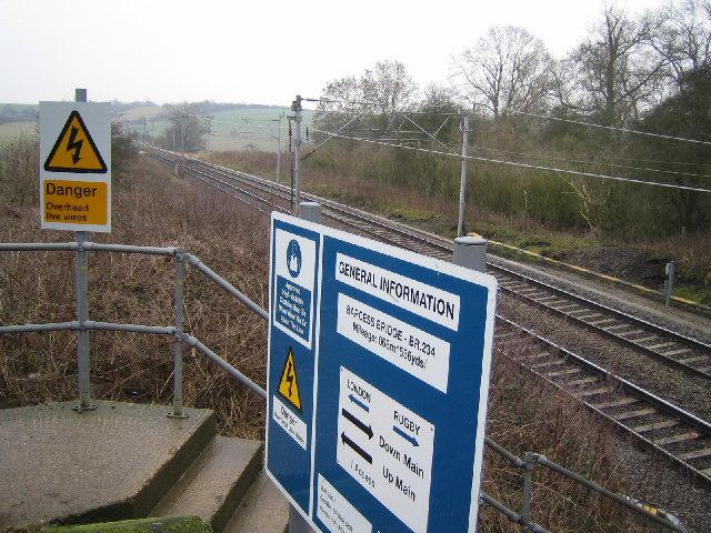Main line railway near Weedon.