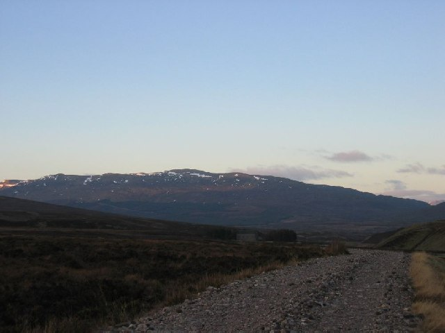 Looking west to Meall Liath