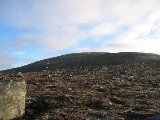 Western ridge of Meall Chuaich