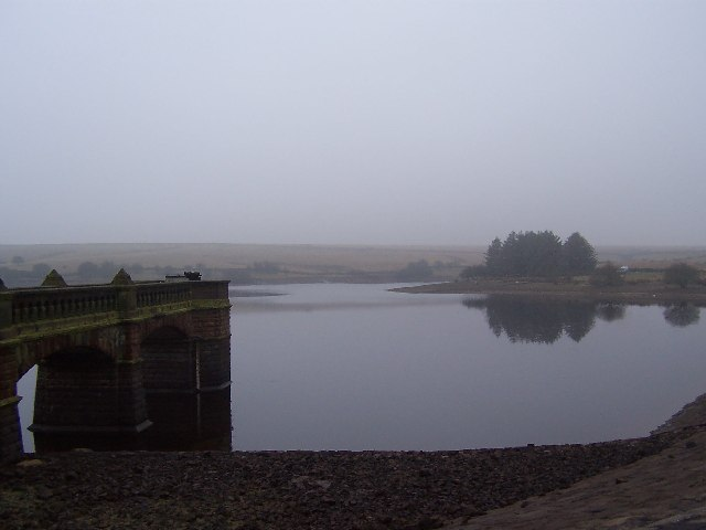Scargill Reservoir on a Misty Day