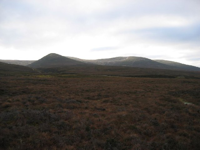 Looking south to Carn na Caim
