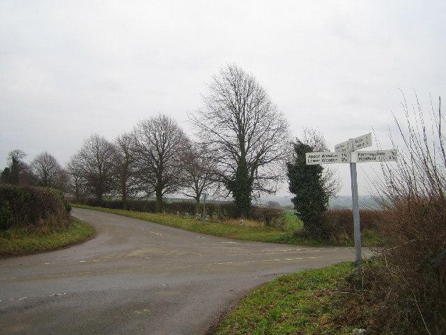 Crossroads south of Weedon
