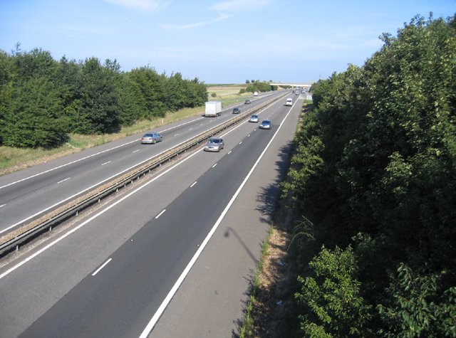 M11 from Junction 10, Duxford, Cambs