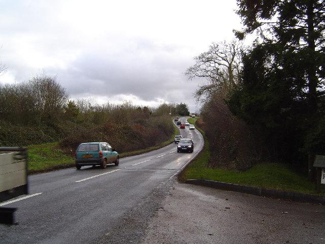 The A381 near Ipplepen - South Devon