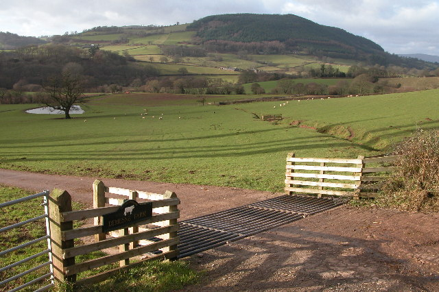 Monnow valley viewed from the entrance to Demesne Farm