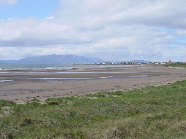 Saltcoats and Arran as seen from the dunes south of Ardeer
