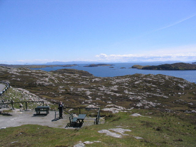 View from Harris over Loch Tarbert