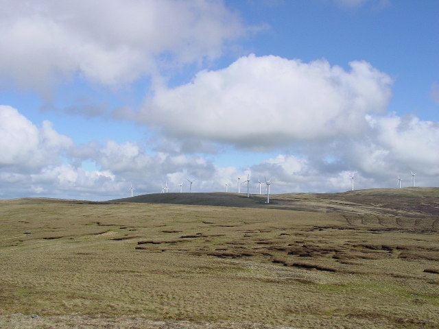 Wind farm on Hare Hill from near Quintin Knowe