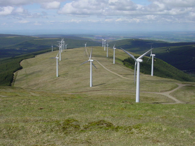 Wind farm on Jedburgh Knees from Windy Standard