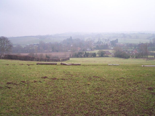 View of Stoke Lacy from Stoke hill