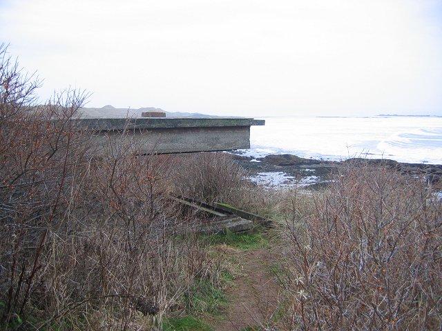 Gun emplacement.