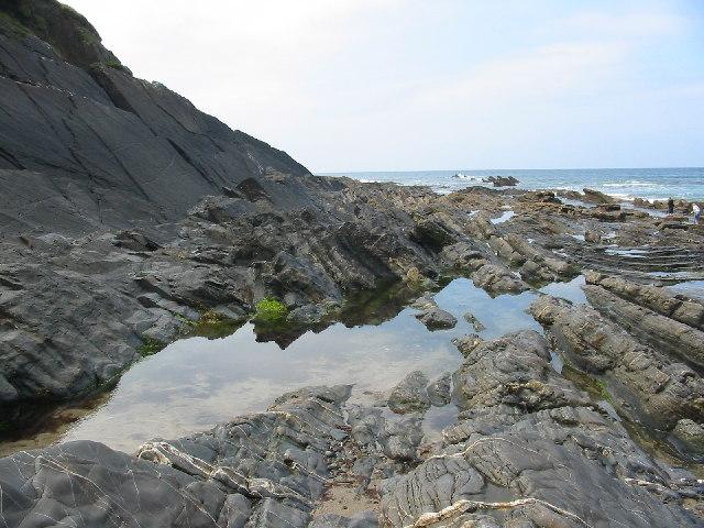 Rock pool at Crackington Haven Cornwall