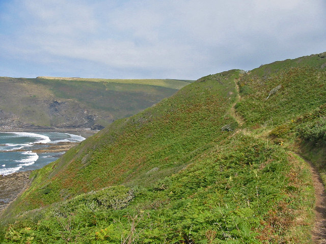The Coast Path at  Brays Point Cornwall