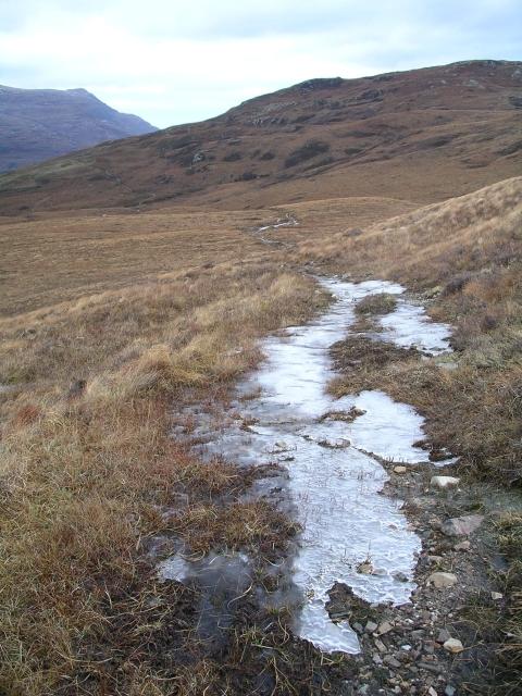 Icy path, Allt a Chairn