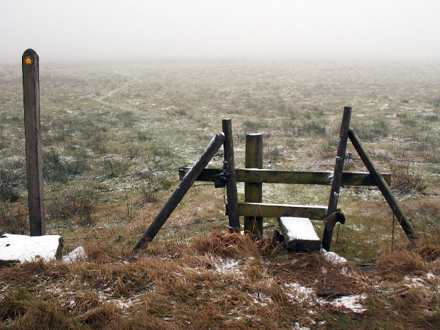 Stile on footpath to south of Dukes Cut