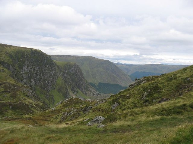 Heading down into Glen Doll