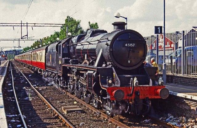 Shoeburyness, steam engine 45157