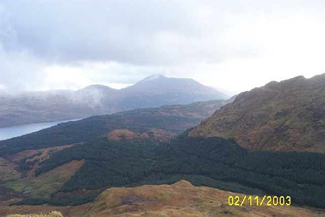 Taken from Slopes of Ben Vane looking south into valley of Allt Coiregrogain