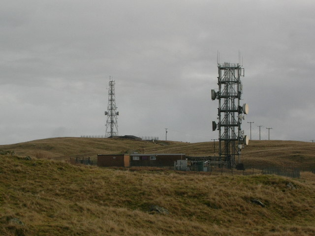 Communication masts on Whinfell Ridge