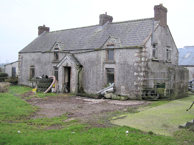 Ruined farmhouse at Corboe