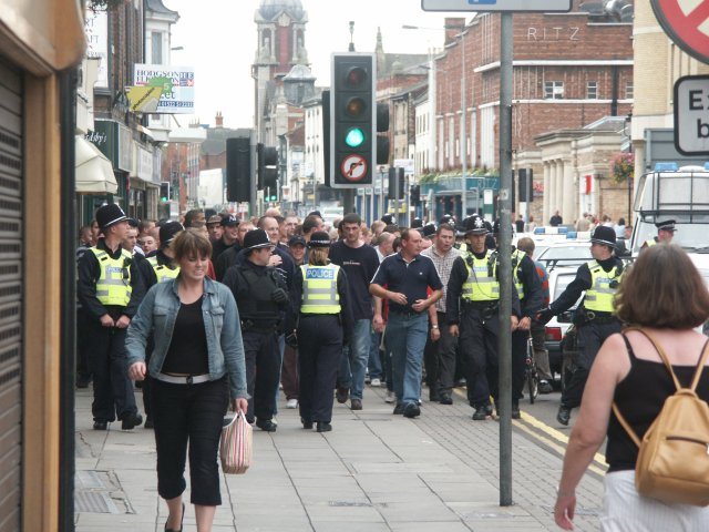 Lincoln Mark 7 >> After the match. High Street, Lincoln © Dave Hitchborne :: Geograph Britain and Ireland