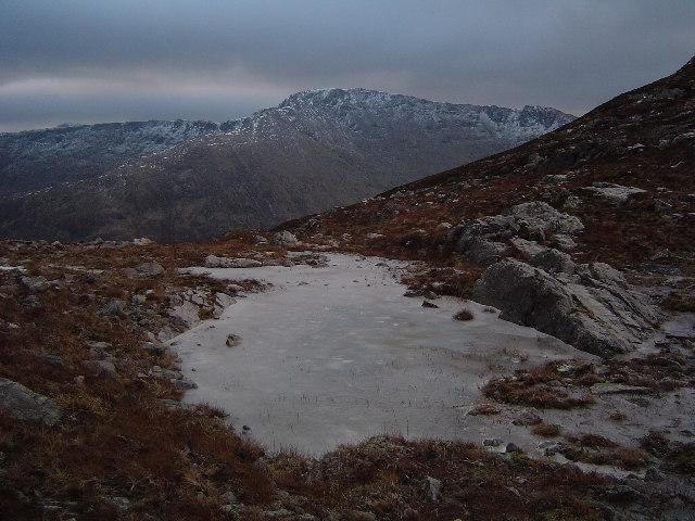 Ice on Garbh Bheinn