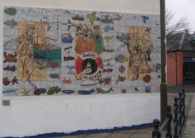 Tiled mural, Port Seton.